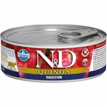 Farmina N&D Digestion влажный корм для взрослых кошек с проблемами пищеварения с киноа и ягненком - 80 г х 12 шт