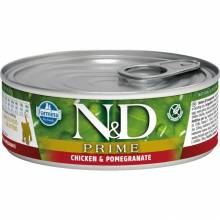 Farmina N&D Prime влажный корм для котят с курицей и гранатом - 80 г х 12 шт