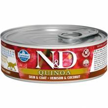 Farmina N&D влажный корм для взрослых кошек с киноа, олениной и кокосом - 80 г х 12 шт