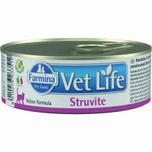 Farmina Vet Life Struvite влажный корм для взрослых кошек при МКБ струвитного типа с курицей - 85 г х 12 шт