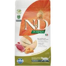 Farmina N&D Cat Grain Free pumpkin duck корм для взрослых кошек с уткой, тыквой и дыней 1,5 кг