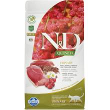 Farmina N&D Cat Grain Free quinoa urinary duck корм для взрослых кошек при МКБ с уткой и киноа 1,5 кг
