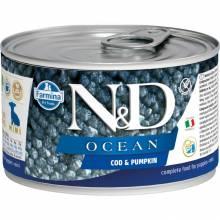 Farmina N&D Ocean влажный корм для щенков мелких пород с треской и тыквой - 140 г х 6 шт