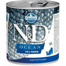 Farmina N&D Ocean влажный корм для щенков с треской и тыквой - 285 г х 6 шт
