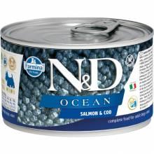 Farmina N&D Ocean влажный корм для собак мелких пород с лососем и треской - 140 г х 6 шт