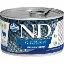 Farmina N&D Ocean влажный корм для собак мелких пород с сельдью и креветками - 140 г х 6 шт