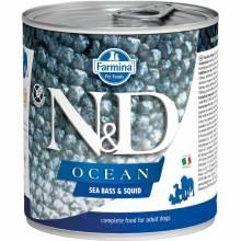 Farmina N&D Ocean влажный корм для собак с сибасом и кальмаром - 285 г х 6 шт