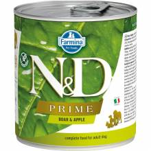 Farmina N&D Prime влажный корм для собак с мясом кабана и яблоком - 285 г х 6 шт