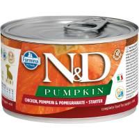 Farmina N&D влажный корм для щенков мелких пород в период отлучения с тыквой, курицей и гранатом - 140 г х 6 шт
