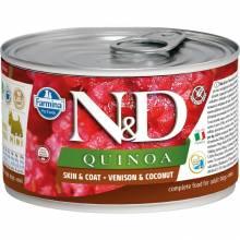 Farmina N&D влажный корм для взрослых собак мелких пород с киноа, олениной и кокосом - 140 г х 6 шт