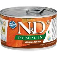 Farmina N&D влажный корм для взрослых собак мелких пород с тыквой и олениной - 140 г х 6 шт
