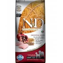 Farmina N&D Ancestral Grain Dog Light Adult Medium & Maxi низкозерновой для собак средних и крупных пород с курицей - 12 кг
