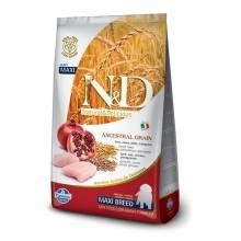 Farmina N&D Low Grain Dog Chicken & Pomegranate Puppy Maxi низкозерновой сухой корм для щенков беременных и кормящих собак с курицей и гранатом 12 кг