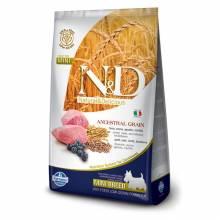 Farmina N&D сухой корм для взрослых собак мелких пород низкозерновой с ягненком и черникой 800 гр (2,5 кг)  (7 кг)