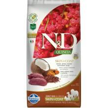 Farmina N&D Dog Grain Free quinoa skin & coat venison корм для собак здоровая кожа и шерсть с олениной и киноа 2,5 кг (7 кг )