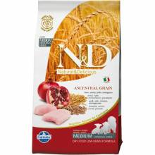 Farmina N&D Low Grain Dog Chicken & Pomegranate Puppy cухой корм  низкозерновой для щенков с курицей и гранатом 12 кг
