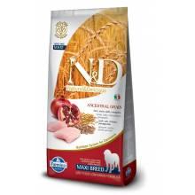 Farmina N&D Low Grain Dog Chicken & Pomegranate Adult Maxi сухой корм с курицей и гранатом для взрослых собак крупных пород - 12 кг