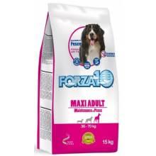 Forza10 Maintenance для взрослых собак крупных пород из трески, голубого тунца и лосося - 15 кг