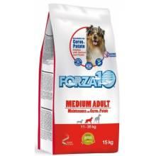 Forza10 Maintenance для взрослых собак средних пород из благородного мяса дикого оленя с молодым картофелем 2 кг (15 кг)