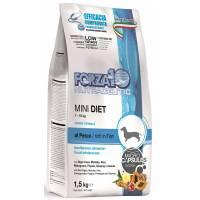 Сухой корм Forza10 Mini Diet для взрослых собак мелких пород при аллергии из рыбы с микрокапсулами - 1,5 кг