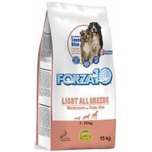 Forza10 Maintenance для взрослых собак всех пород склонных к полноте из тунца и риса - 15 кг