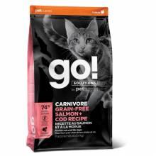 GO! Carnivore GF Salmon + Cod сухой беззерновой корм для котят и кошек с лососем и треской 1,36 кг (3,63 кг), (7,26 кг)