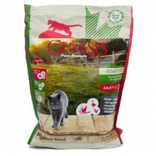 Genesis Pure Canada My Green Field Sensitive сухой корм для взрослых кошек с чувствительным пищеварением с говядиной, гусем и курицей - 2,268 кг