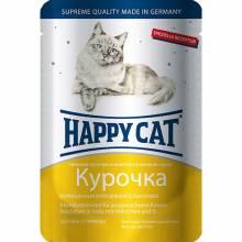 Happy Cat Курица паучи для взрослых кошек любых пород - 100 г х 22 шт