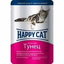 Happy Cat Тунец паучи для взрослых кошек любых пород - 100 г х 22 шт