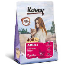 Karmy Adult Курица сухой корм для взрослых кошек 400 гр (1,5 кг) (10 кг)