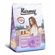 Karmy Kitten корм для котят до 1 года, беременных и кормящих кошек с индейкой 400 гр (1,5 кг) (10 кг)