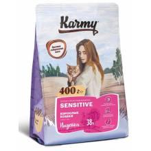 Karmy Sensitive Индейка сухой корм для взрослых кошек, с чувствительным пищеварением 400 гр (1.5 кг) (10 кг)