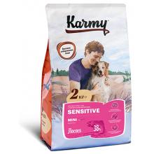 Karmy Sensitive Mini сухой корм для собак мелких пород в возрасте старше 1 года, с чувствительным пищеварением 2 кг (15 кг)