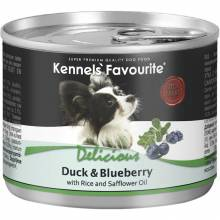 Влажный корм Kennels` Favourite Duck & Blueberry для взрослых собак всех пород с уткой и черникой - 200 гр х 6 шт