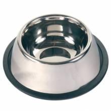 Миска Trixie для собак породы спаниель металлическая с резинкой 0,9 л/ф15 см
