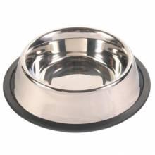 Миска Trixie для собак с резинкой металлическая Ф20 см 1,75 л
