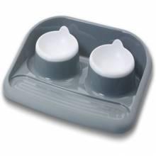 Savic Butler поддон пластиковый с двумя мисками в ассортименте - 2х300 мл