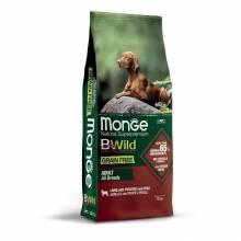 Monge Dog BWild Grain Free сухой беззерновой корм для взрослых собак из мяса ягненка с картофелем и горохом - 2,5 кг (12 кг)