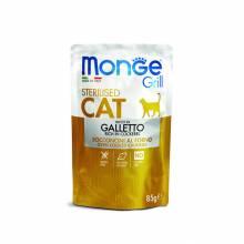 Влажный корм Monge Cat Grill для стерилизованных кошек с итальянской курицей - 85 г х 28 шт