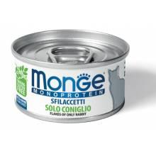 Консервы Monge Cat Monoprotein для взрослых кошек с кроликом - 80 х 24 шт