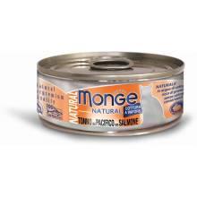 Monge Cat Natural консервы для кошек тунец с лососем - 80 гр х 24 шт.