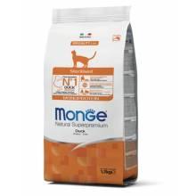 Monge Cat Sterilized сухой корм  для взрослых стерилизованных кошек с уткой - 1,5 кг (10 кг)