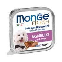 Monge Dog Fresh консервы для собак ягненок 100 гр х 32 шт