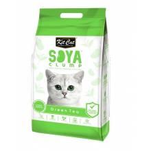 Kit Cat SoyaClump Soybean Litter Green Tea соевый биоразлагаемый комкующийся наполнитель с ароматом зеленого чая 7 л (14 л)