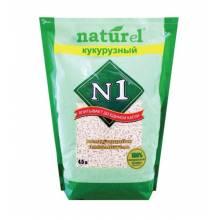 Наполнитель N1 NATUREL Кукурузный комкующийся для кошачьего туалета 4,5 л