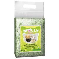 Наполнитель Molly Coddle соевый комкующийся с ароматом зеленого чая - 6 л