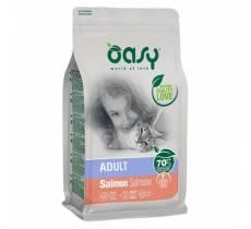 Oasy Dry Cat сухой корм для кошек с лососем - 300 гр