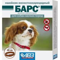 Барс ошейник инсектоакарицидный для собак мелких пород