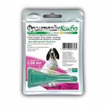 Капли Фронтлайн Комбо L капли на холку для собак массой 20 – 40 кг (2,68 мл)