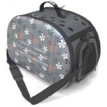 IBIYAYA складная сумка-переноска для кошек весом до 6 кг - серая в цветочек